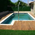 Pavimento perimetral en piscina