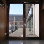 Puertas Cristales con madera